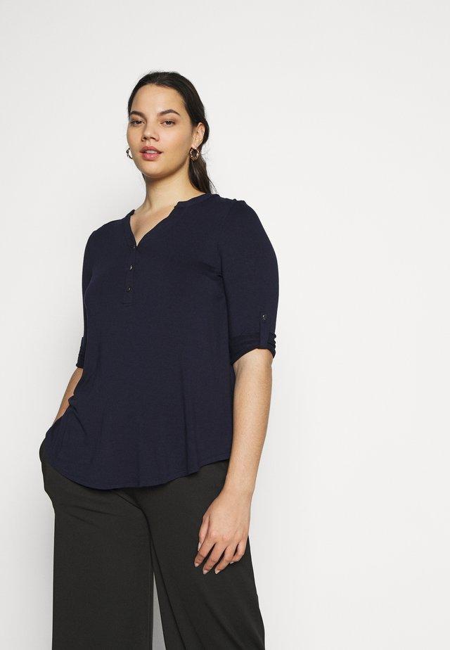 Langærmede T-shirts - navy