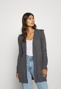 Anna Field - HOODED CARDI - Cardigan - dark grey melange - 0