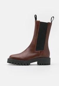LÄST - ANGIE - Platform boots - brown - 1