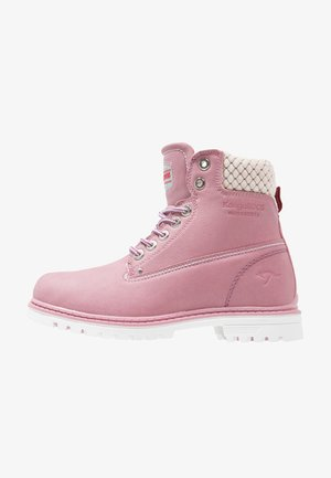 RIVETER  - Lace-up ankle boots - pink