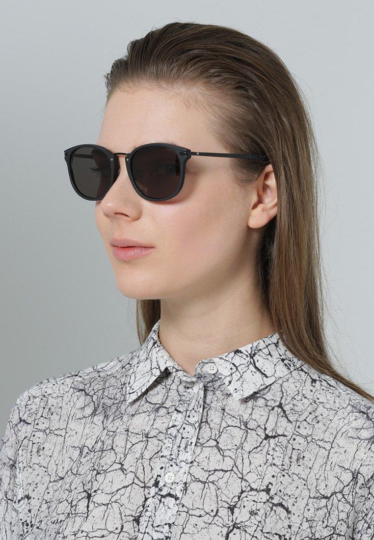 Kerbholz - HERRMANN - Sunglasses - matt black/solid grey