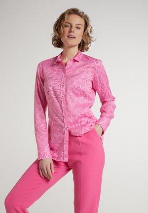 MODERN CLASSIC - Button-down blouse - pink/weiss