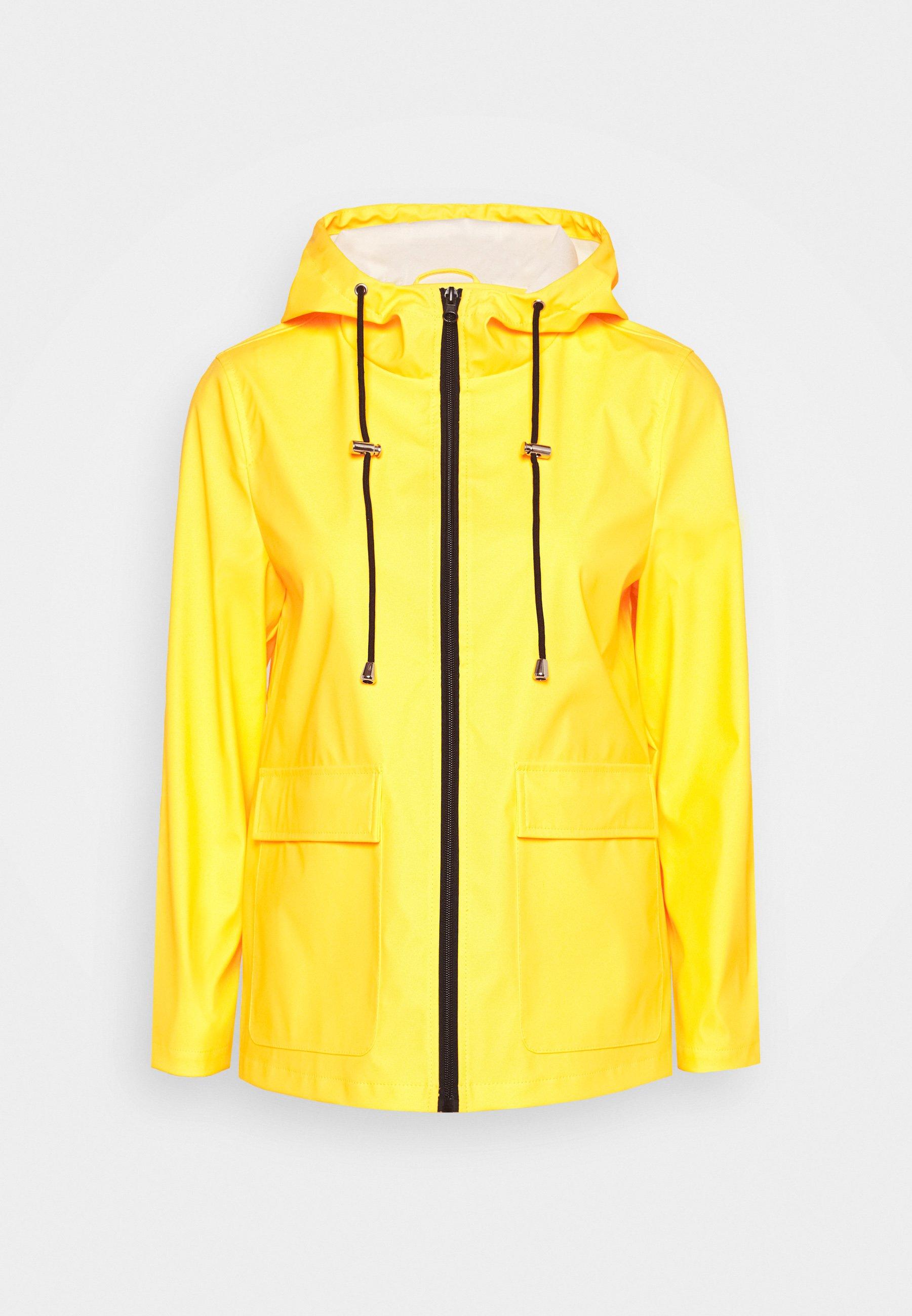 Pieces Petite PCRARNA RAIN JACKET - Veste imperméable - empire yellow/silver trim 1IH8oAVC