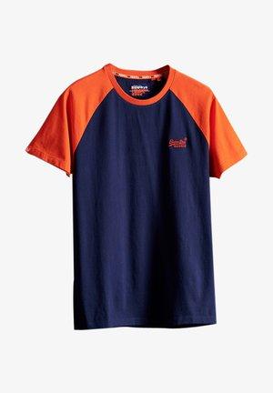 Print T-shirt - rich navy