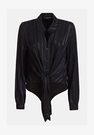 GESTREIFTE  - Camisa - schwarz