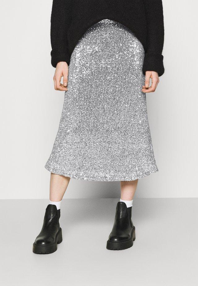VIOLA SKIRT - Spódnica trapezowa - silver