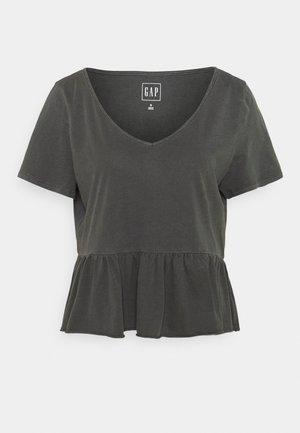 VINT PEPLUM - T-shirt con stampa - soft black