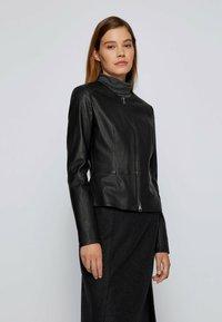 BOSS - SANOA - Leather jacket - black - 0