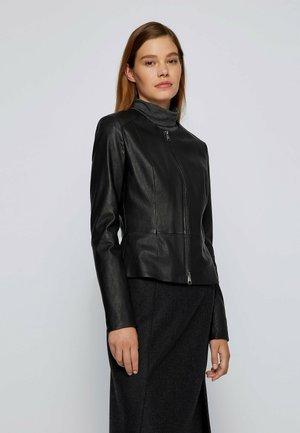 SANOA - Leather jacket - black