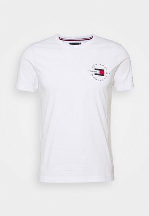 CIRCLE CHEST TEE - T-shirt z nadrukiem - white