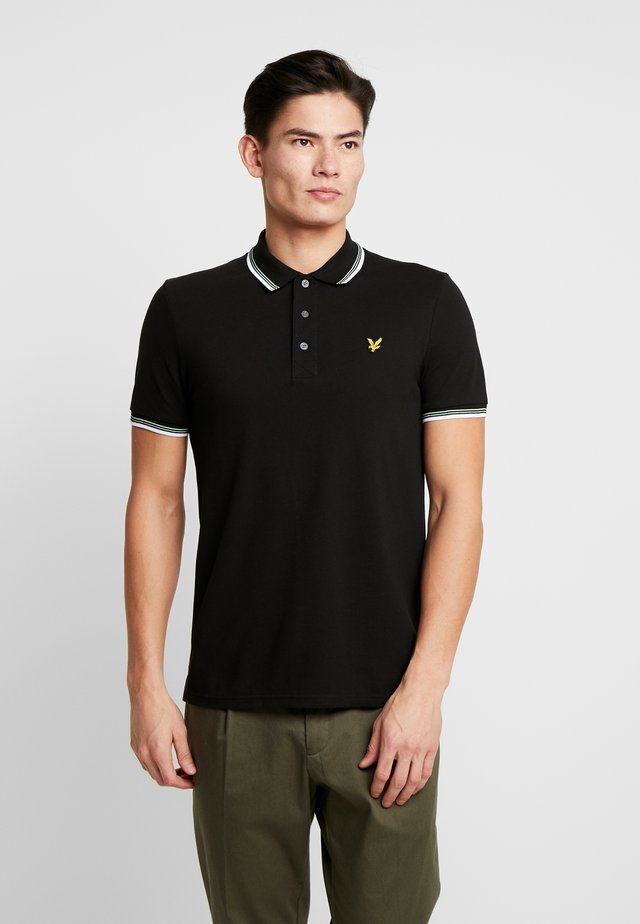 SEASONAL TIPPED POLO SHIRT - Pikeepaita - jet black/white