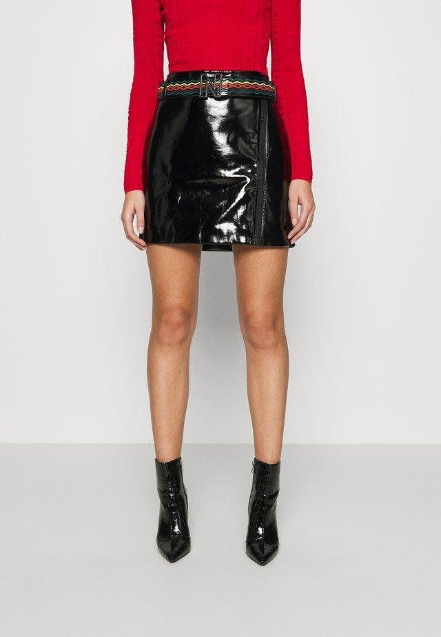 ELLY SKIRT - Mini skirt - black