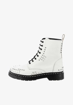 MALITONO - Lace-up ankle boots - white