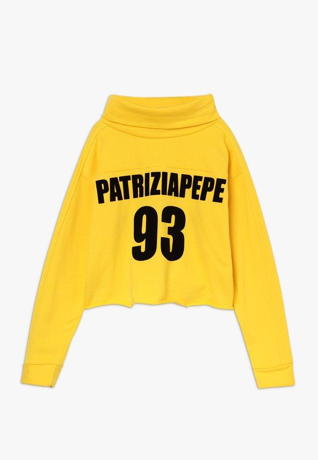 FELPA COLLO RISVOLTATO - Sweatshirt - giallo