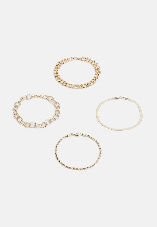 MIX CHAIN 4PACK - Bracelet - gold