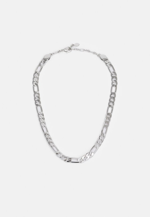 MEDIUM FIGARO CHAIN NECKLACE - Halskette - mottled grey