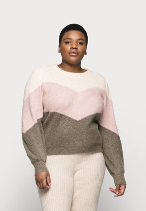 VMPLAZA ONECK - Jumper - birch/sepia rose