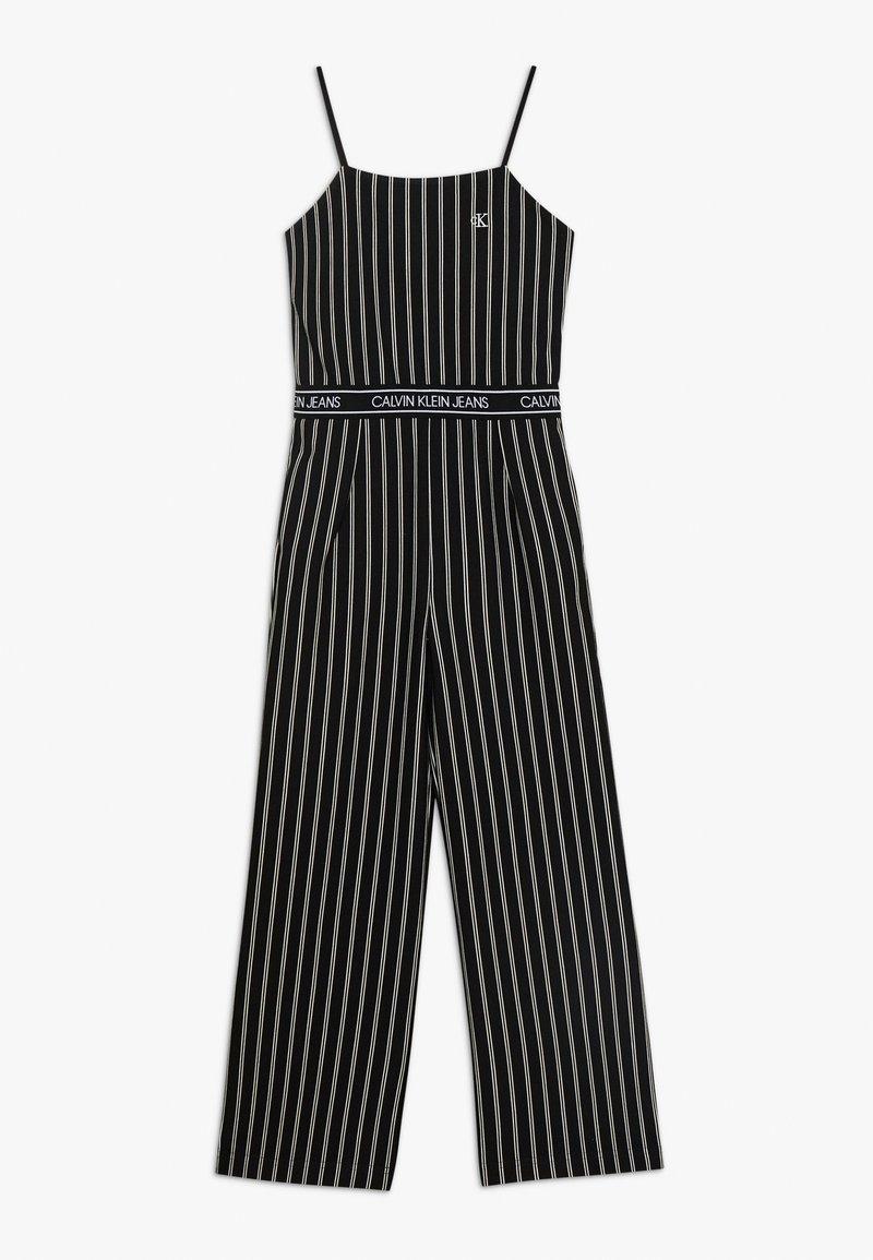 Calvin Klein Jeans - CITY STRIPE STRAP - Jumpsuit - black