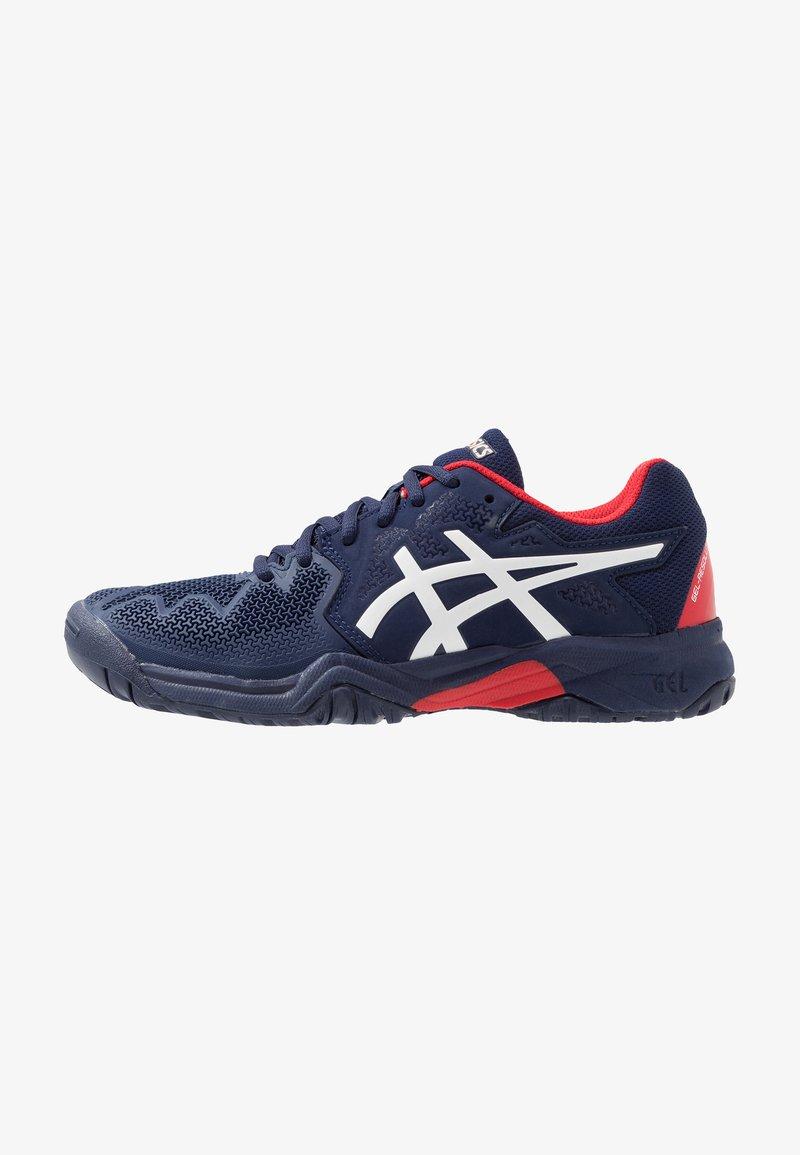 ASICS - GEL-RESOLUTION 8 UNISEX - Zapatillas de tenis para todas las superficies - peacoat/classic red