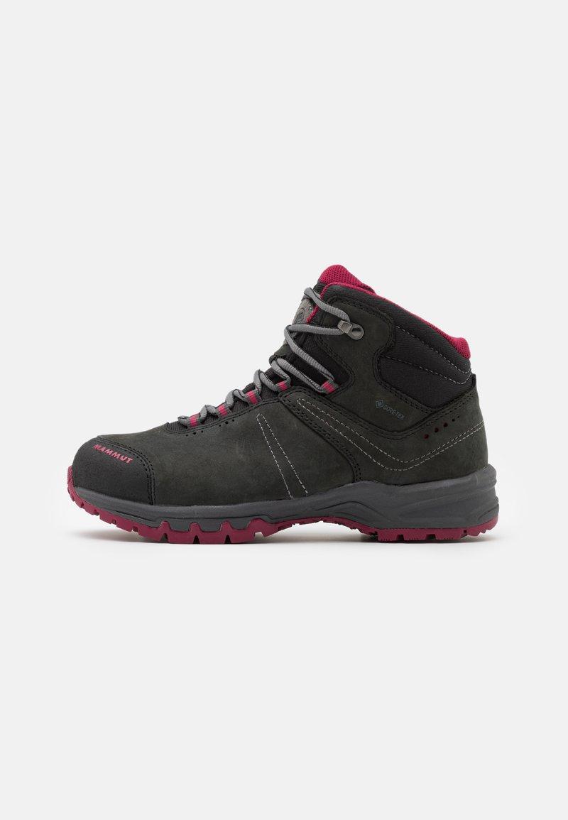 Mammut - NOVA III MID GTX WOMEN - Hiking shoes - black/dark sundown