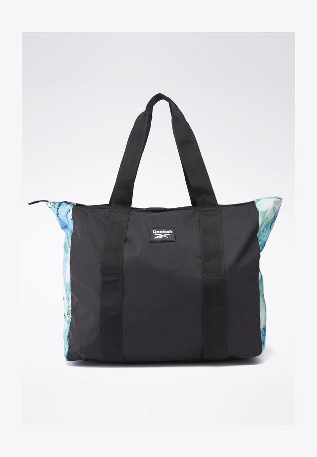 TECH STYLE GRAPHIC TOTE BAG - Across body bag - black
