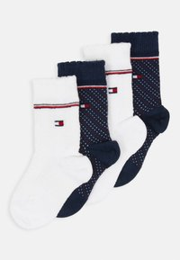 Tommy Hilfiger - BABY KNEEHIGH GIRLS ZIG ZAG 4 PACK - Kniekousen - blue - 0