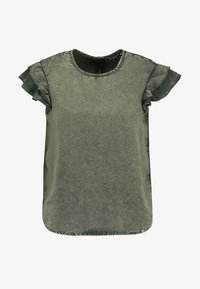 CHRISTA RUFFLE - Blouse - washed khaki