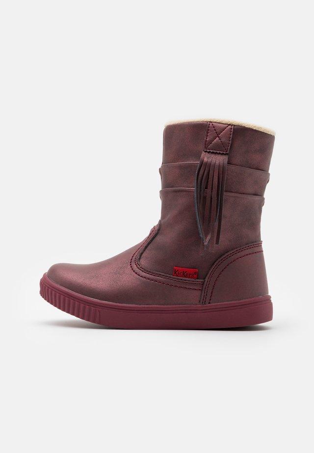 RUMBY - Kotníkové boty - violet fonce brillant