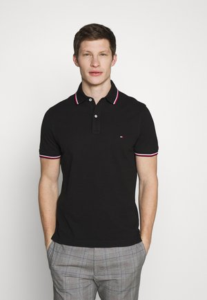 TIPPED SLIM FIT - Polo - black