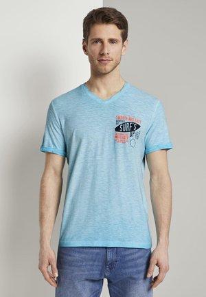 MELIERTES - Print T-shirt - clear blue atoll