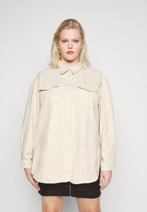 BOYFRIEND FIT OVERSIZED SHIRT - Button-down blouse - sand