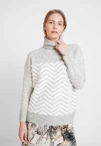 Wallis - CHEVRON FLUFF  - Jumper - grey - 0
