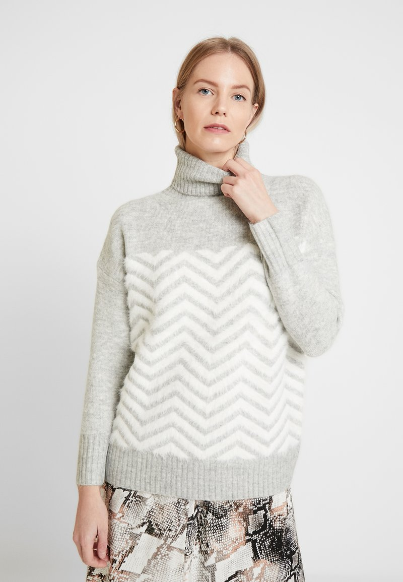 Wallis - CHEVRON FLUFF  - Jumper - grey