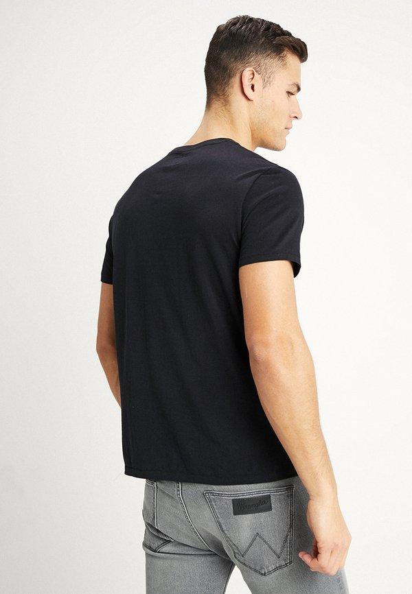 Wrangler SIGN OFF TEE - T-shirt basic - black/czarny Odzież Męska JTKG