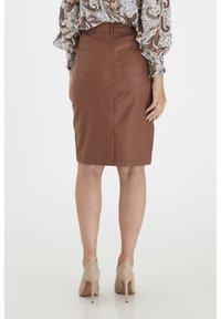 Fransa - FRNOTALIN - A-line skirt - dark camel - 2