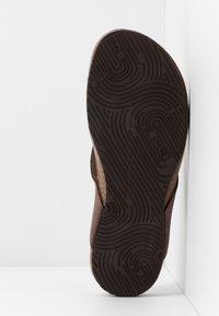 Scholl - TISTOIS - T-bar sandals - marron fonce - 6