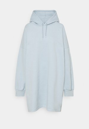 OVERSIZED HOODIE DRESS - Day dress - blue