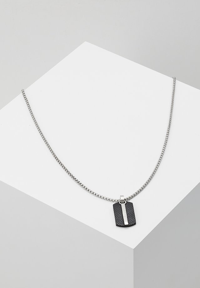 MAN IDENTITY - Necklace - silver-coloured