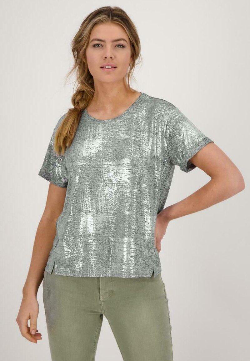 Monari - Print T-shirt - silber