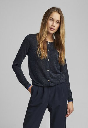 NUBELINDA CARDIGAN - Strickjacke - dark blue