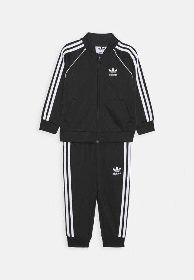 TRACKSUIT SET - Dres - black/white