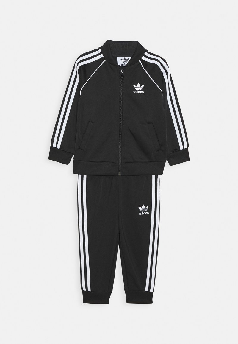 adidas Originals - TRACKSUIT SET - Tracksuit - black/white