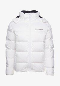 Calvin Klein Jeans - HOODED DOWN PUFFER  - Winter jacket - white - 5