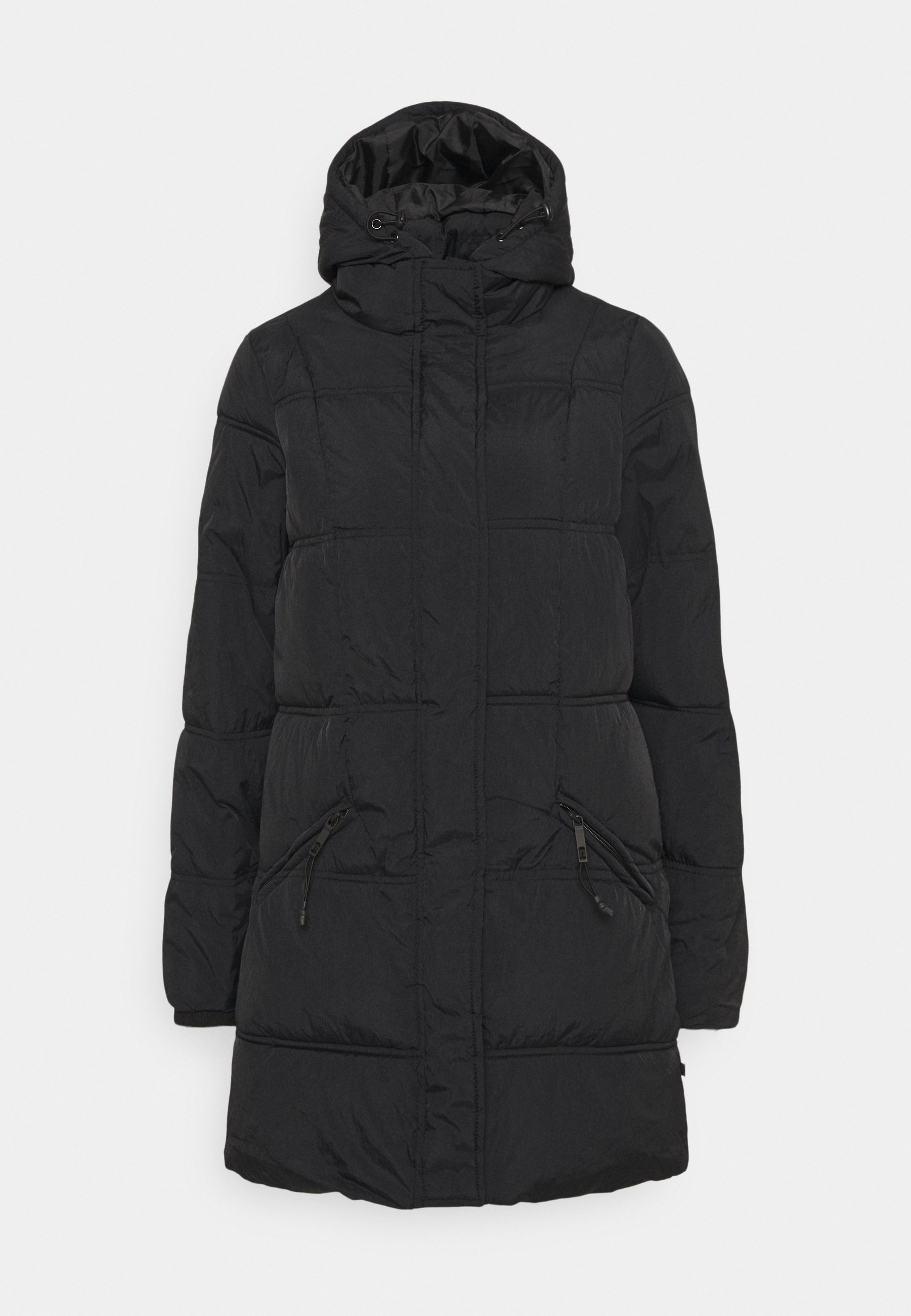 THE MOTHER MID LENGTH PUFFER Winterjas black