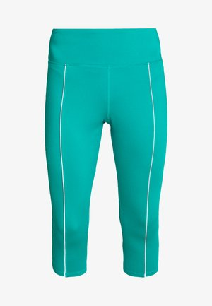 EXCLUSIVE CROPPED LEGGINGS WITH REFLECTIVE STRIPS - Leggings - teal