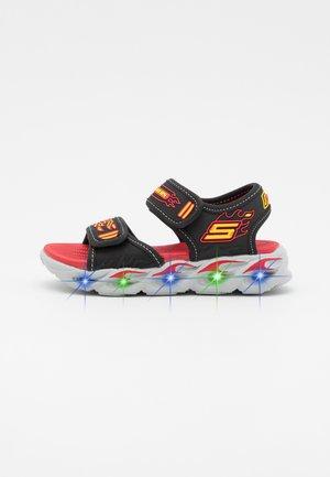 THERMO-SPLASH - Sandals - black/red/yellow