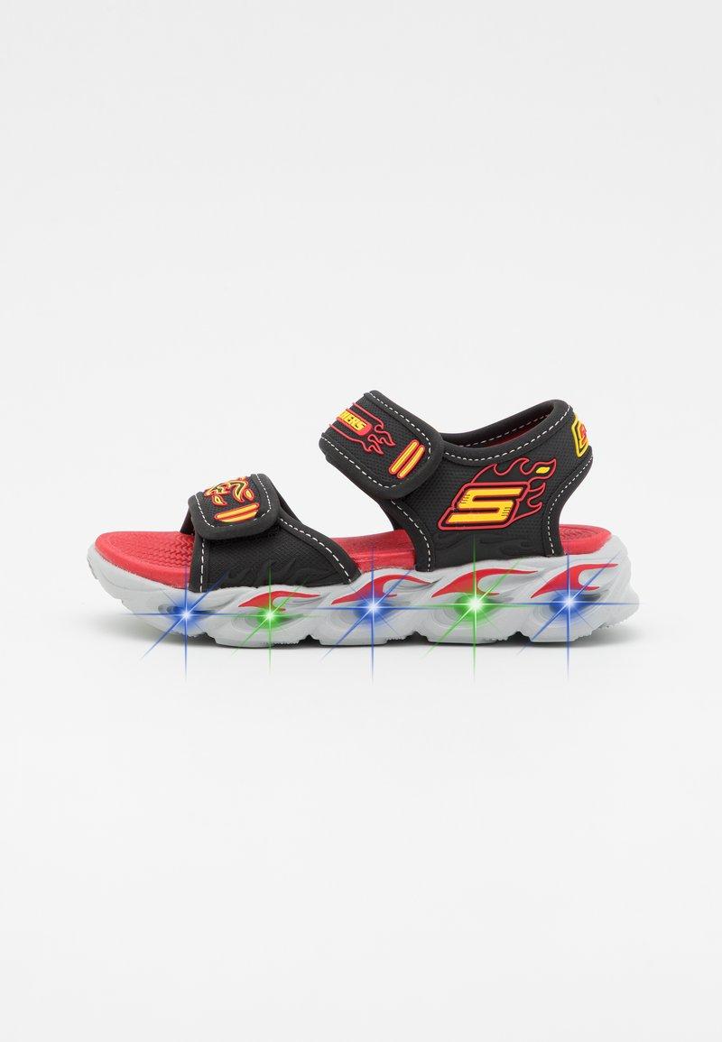 Skechers - THERMO-SPLASH - Sandals - black/red/yellow