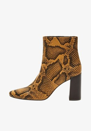 NA PODPATKU DO ŠPIČKY - High heeled ankle boots - žlutá