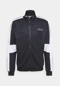 Fila - JAMESON STRIPED TRACK JACKET - Giacca sportiva - black/bright white - 0