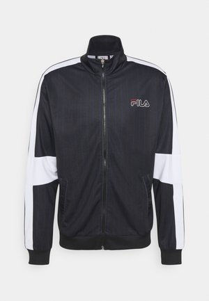 JAMESON STRIPED TRACK JACKET - Sportovní bunda - black/bright white
